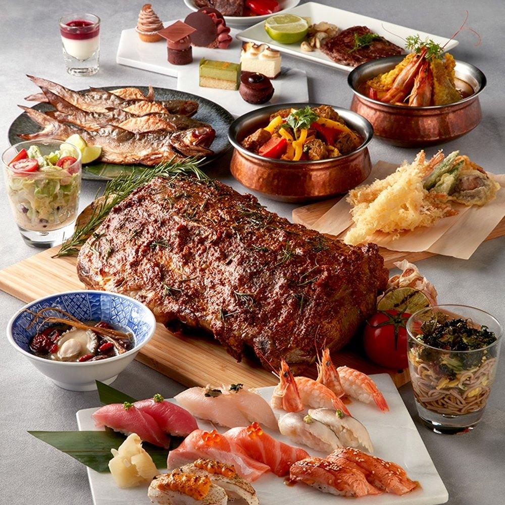 2張組↘【台北】寒舍艾美酒店探索廚房平日自助午晚餐券
