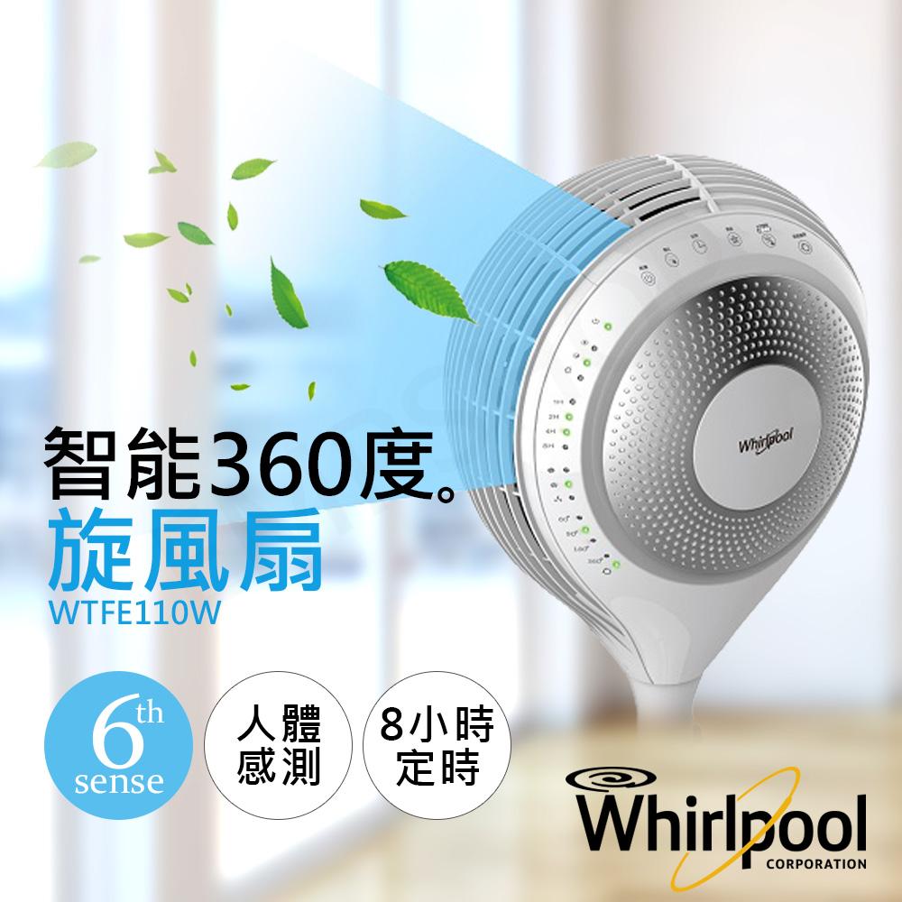 【惠而浦Whirlpool】智能遙控360度旋風扇 WTFE110W★