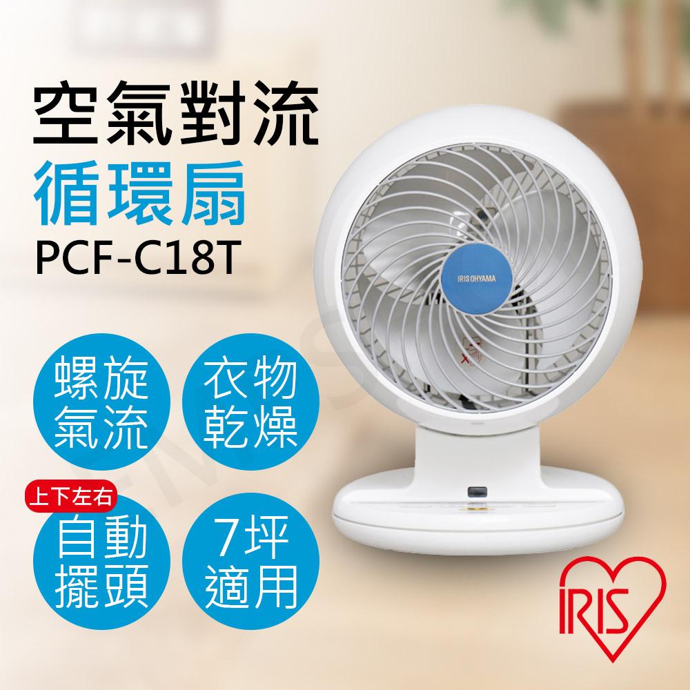【日本IRIS】自動擺頭空氣對流循環扇 PCF-C18T★