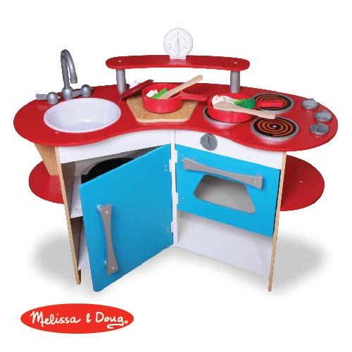 ★迎新價65折★美國瑪莉莎 Melissa & Doug 木製玩食趣 – 小廚師的木製廚房玩具組(DIY)