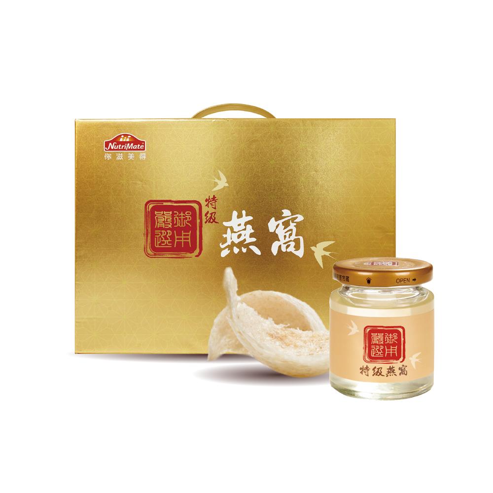 【你滋美得】璽・特級燕窩 禮盒 (80g/單瓶)(6瓶/盒)