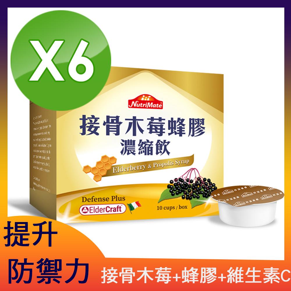 【你滋美得】接骨木莓蜂膠濃縮飲(10杯/盒) 6盒組