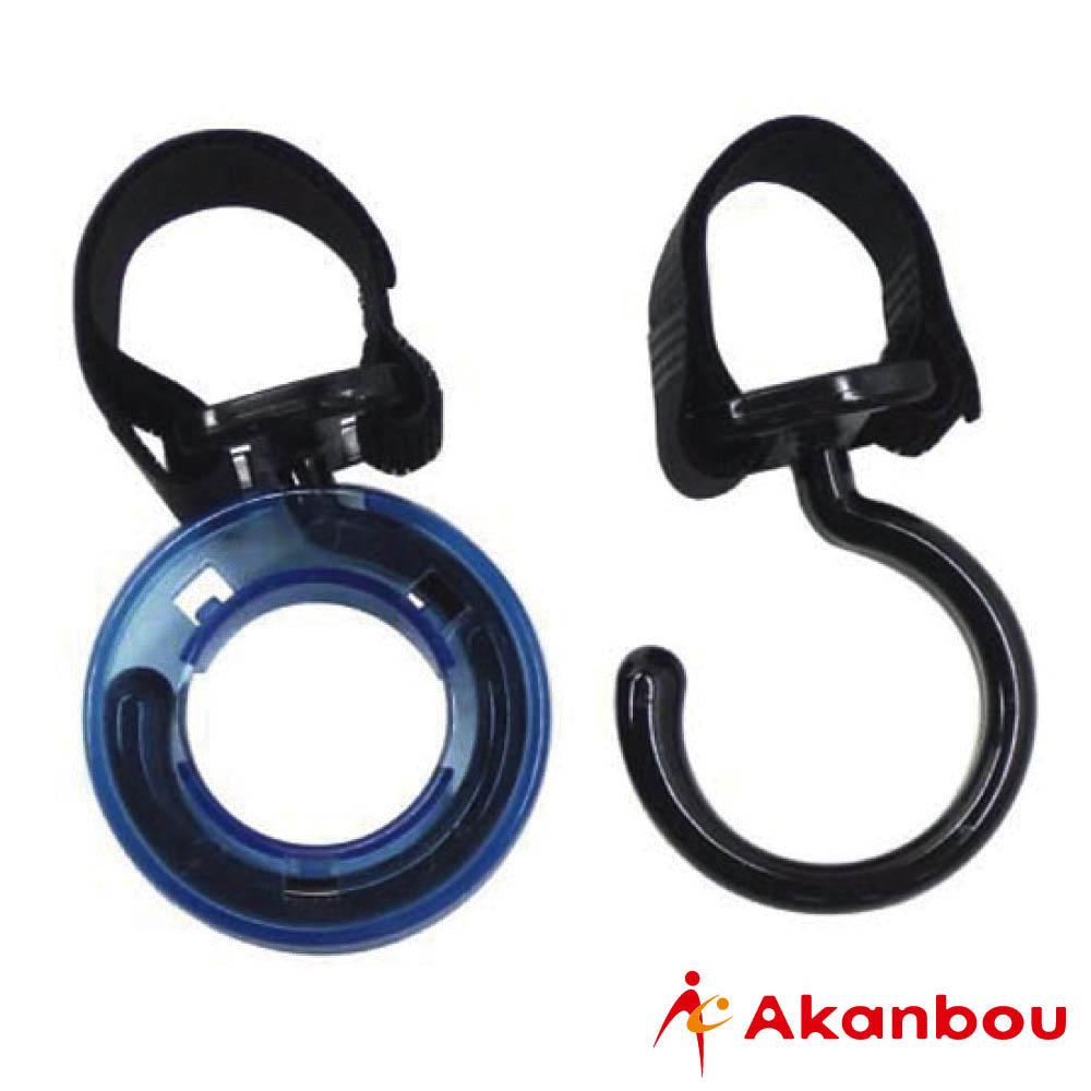 【日本製Akanbou】多用途掛勾附雨傘釦環(黑)