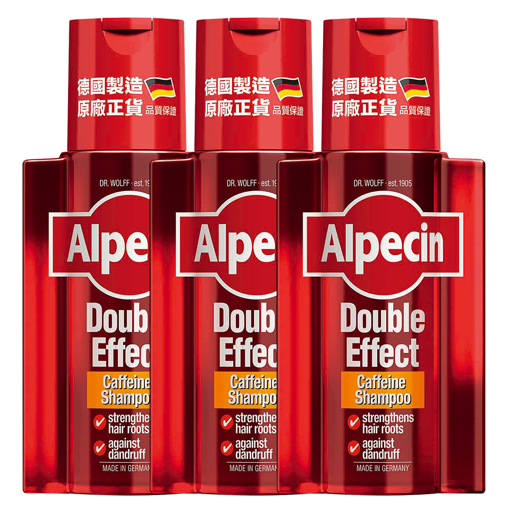 Alpecin 雙效咖啡因洗髮露200ml(3入組)