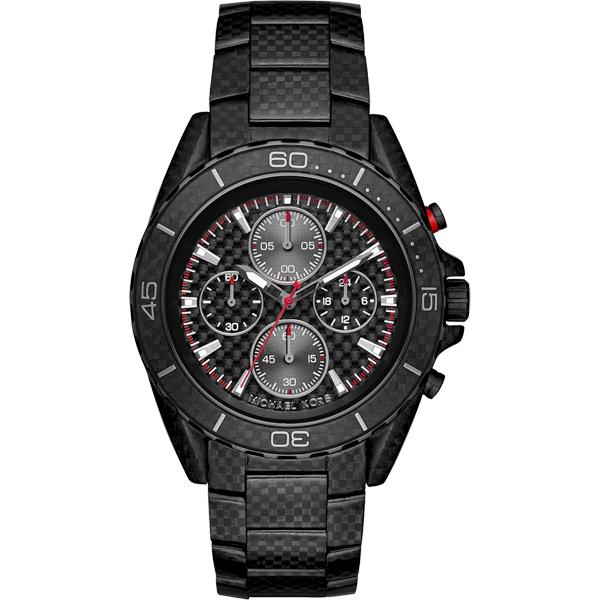 Michael Kors Jet Master 飆速碳纖維計時錶-黑/43mm  MK8455