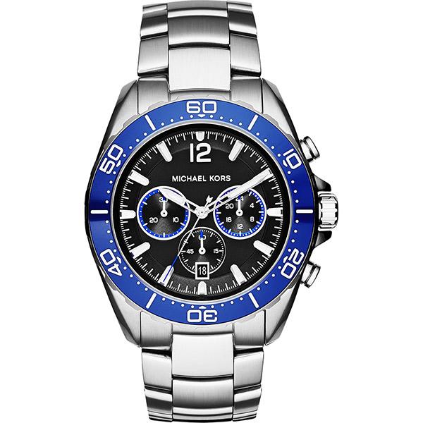 Michael Kors Winward 冒險玩家計時腕錶-黑x銀/45mm  MK8422