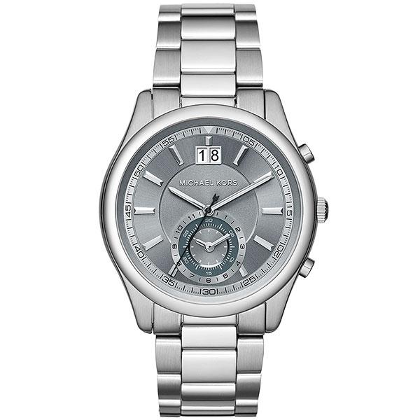 Michael Kors 爵士品味大日期計時腕錶-灰x銀/42mm  MK8417
