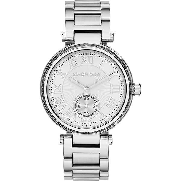 Michael Kors 東方風情時尚腕錶-銀  MK5866