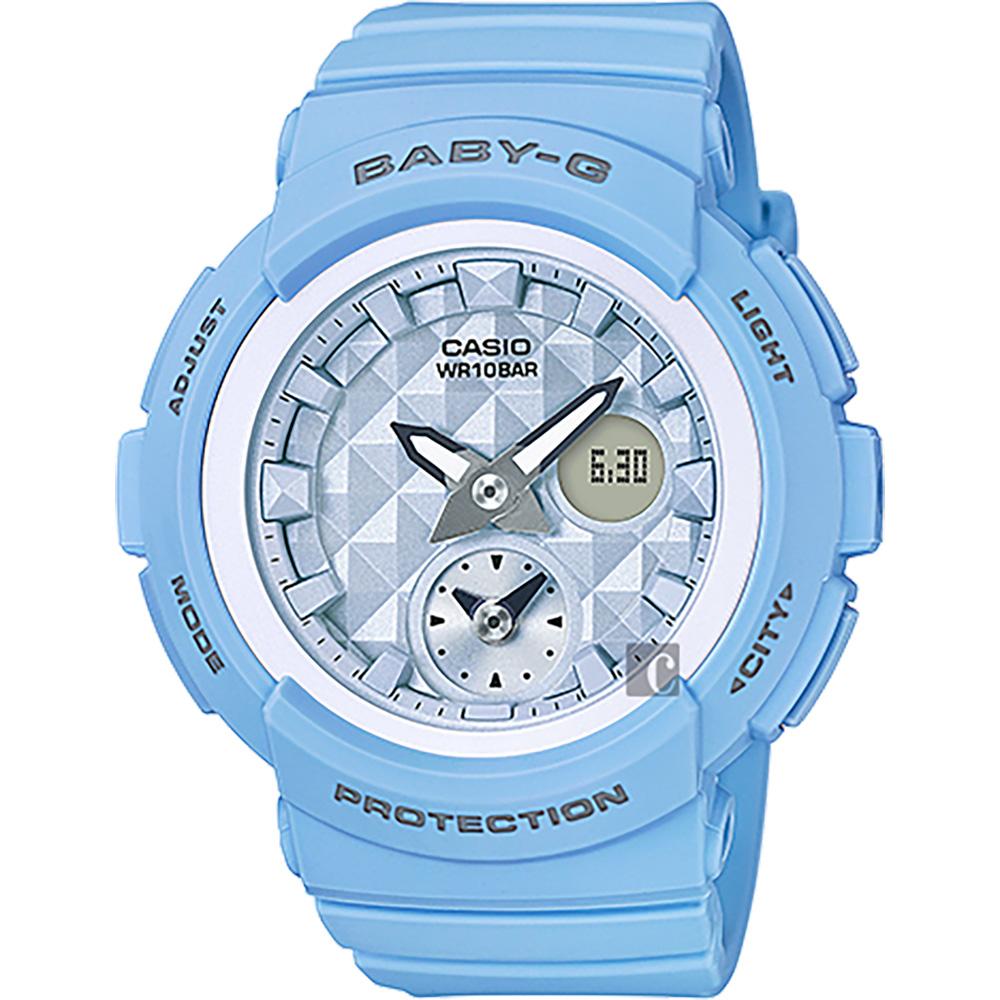 CASIO 卡西歐 Baby-G 愛旅行雙顯錶-藍 BGA-190BE-2ADR