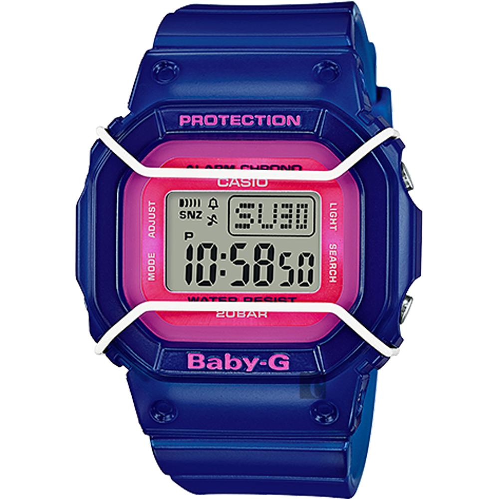 CASIO 卡西歐 Baby-G 復刻潮流腕錶-藍 BGD-501FS-2DR