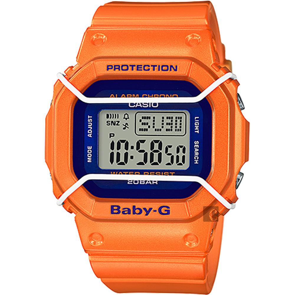 CASIO 卡西歐 Baby-G 復刻潮流腕錶-橘 BGD-501FS-4DR