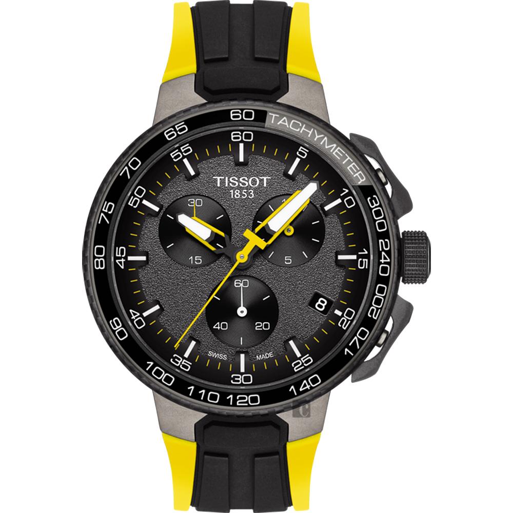 TISSOT 天梭 T-RACE 環法自行車賽計時特別款手錶-黑/44.5mm T1114173744100