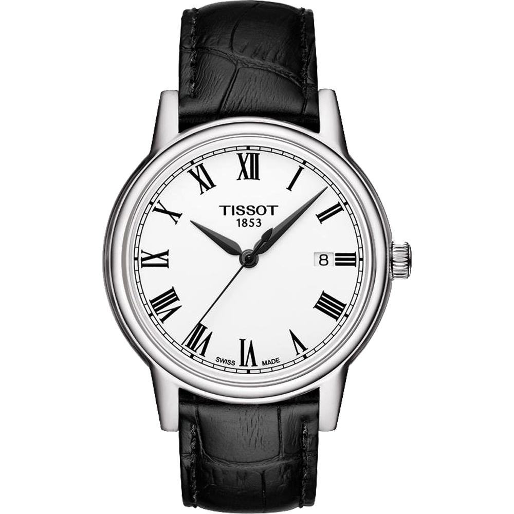TISSOT T-Classic Carson 羅馬石英手錶-白/40mm T0854101601300