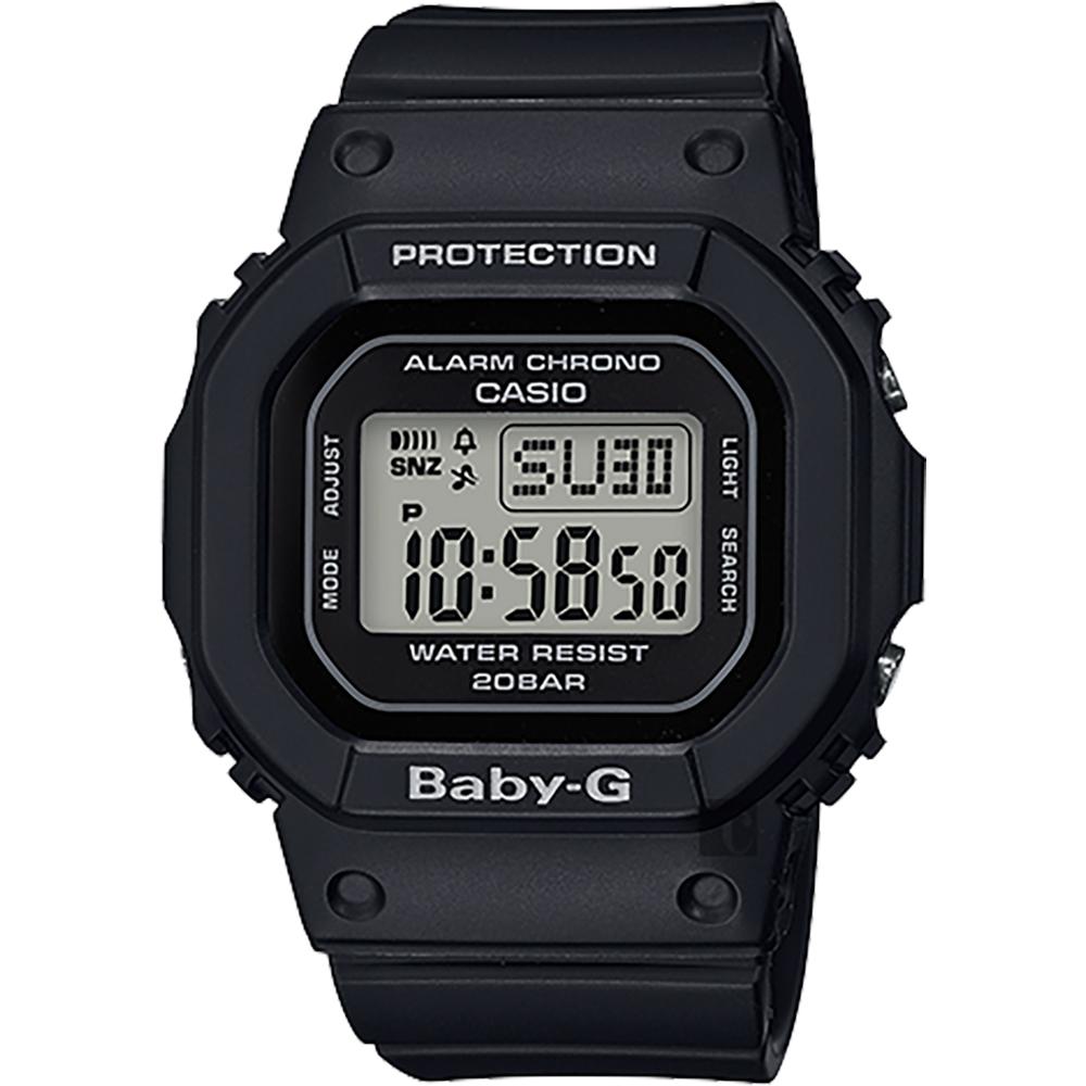 CASIO 卡西歐 Baby-G 人氣經典電子錶-黑 BGD-560-1DR