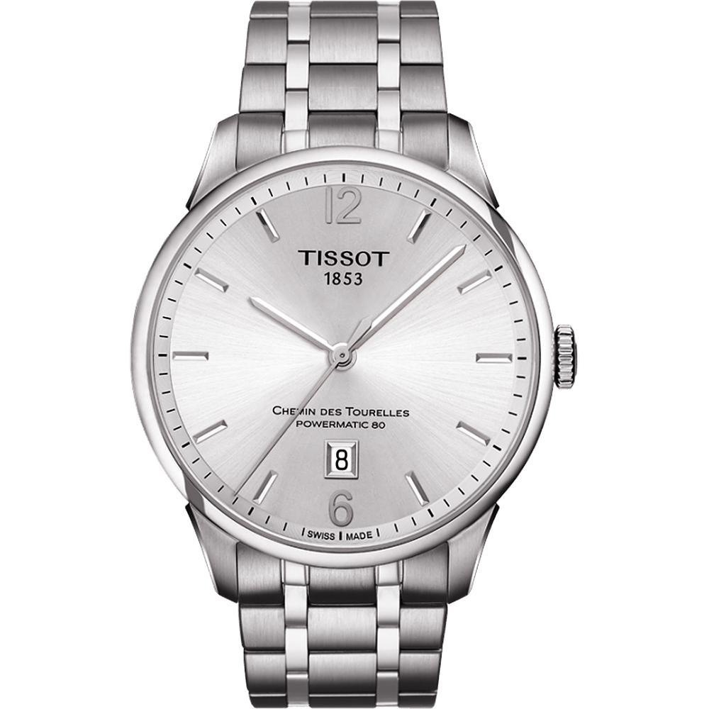 TISSOT 天梭 杜魯爾系列機械動力80腕錶-銀/42mm T0994071103700