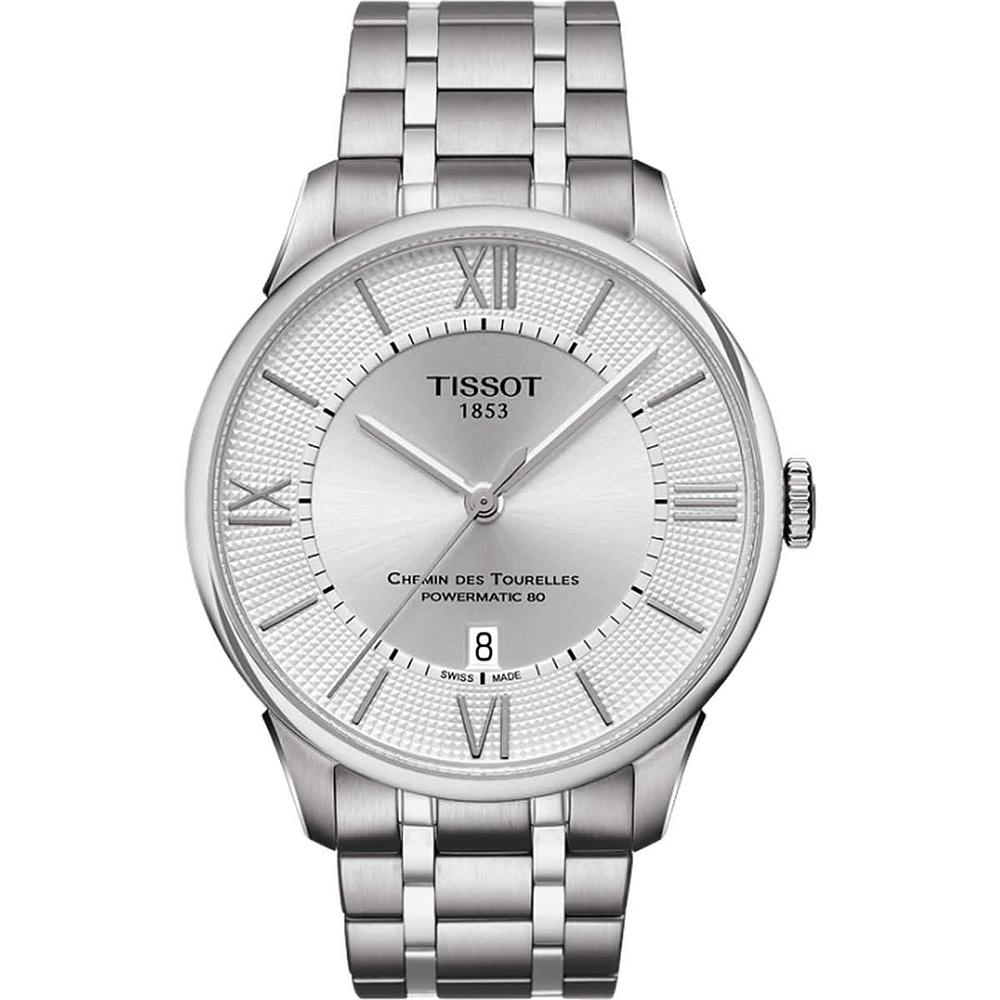 TISSOT 天梭 杜魯爾系列機械動力80腕錶-銀/42mm T0994071103800