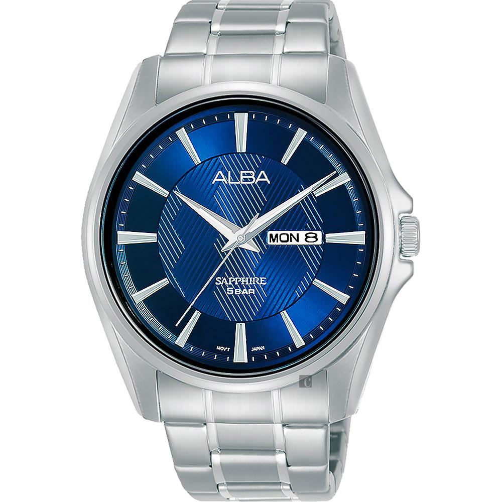 ALBA 雅柏 城市日曆手錶 VJ33-X030B(AJ6099X1)