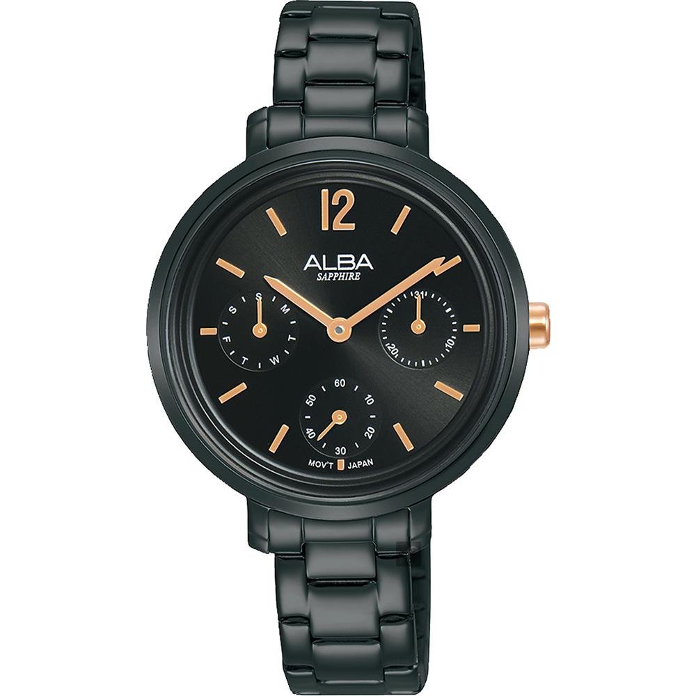 ALBA 雅柏 率性俏女孩日曆手錶-34mm VD75-X128SD(AP6659X1)