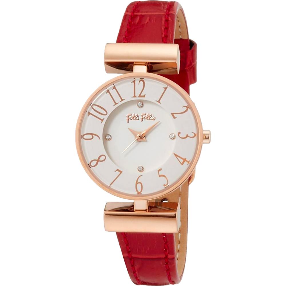 Folli Follie MINI DYNAST 時尚教主石英女錶-白x紅/26mm WF16R007SSW-RE