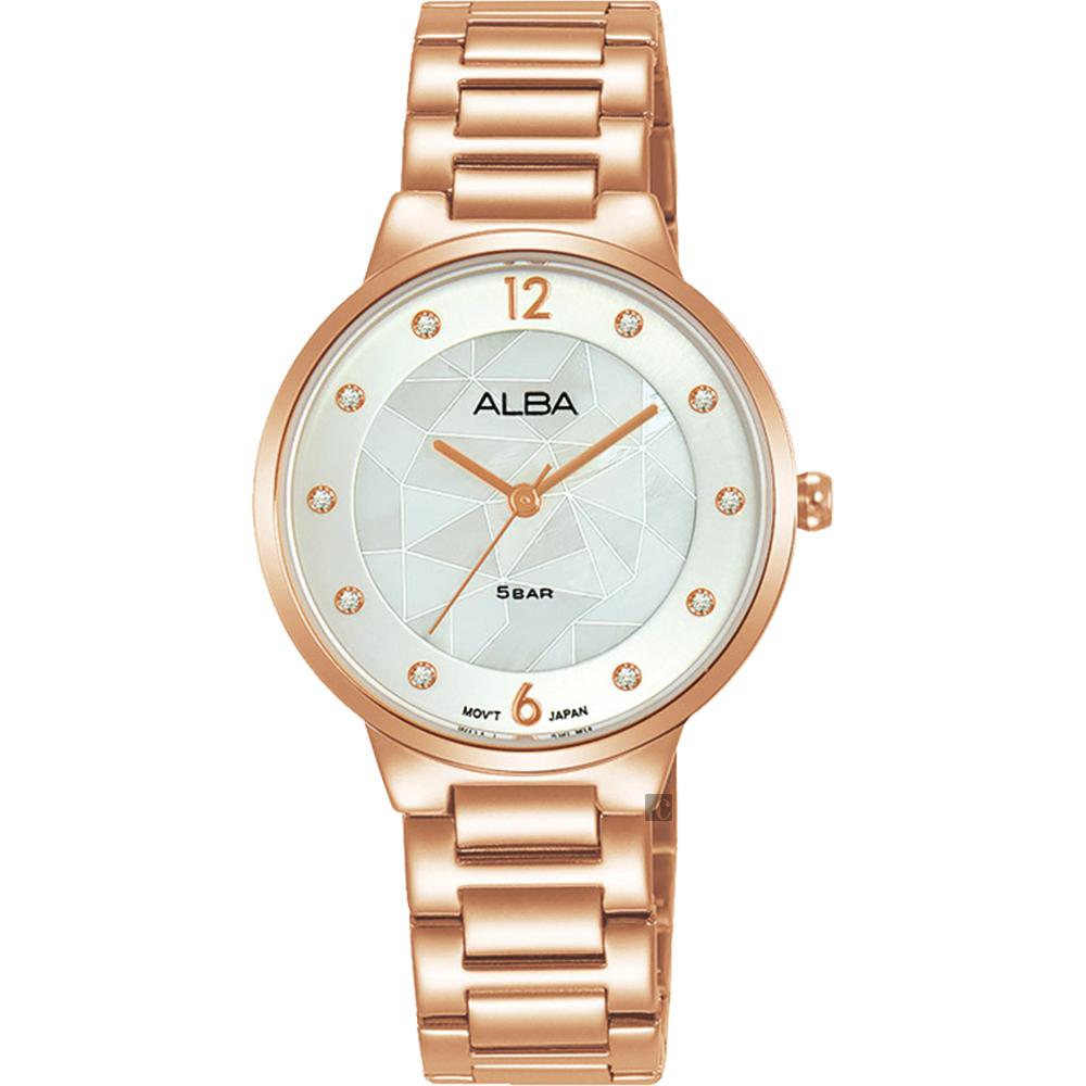 ALBA 白蝶貝面盤女錶 VJ21-X172K(AH8794X1)
