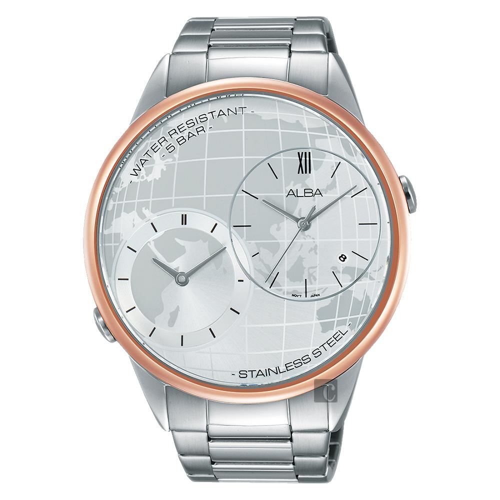 ALBA 商務二地時間限定手錶-45mm(AZ9004X1/DM03-X001KS)