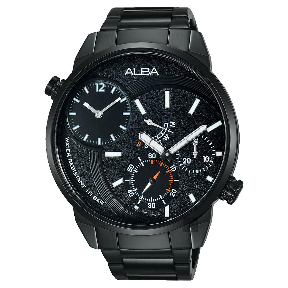 ALBA 商務二地時區限定手錶-46mm(A2A001X1/DM04-X001SD)
