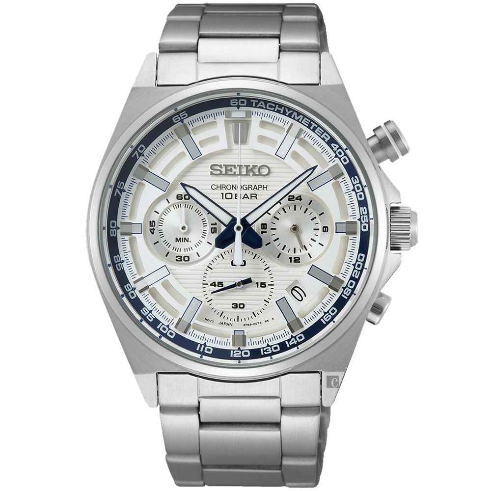 SEIKO 精工 CS 140週年限量 三眼計時手錶-41mm(SSB395P1/8T63-00S0S)