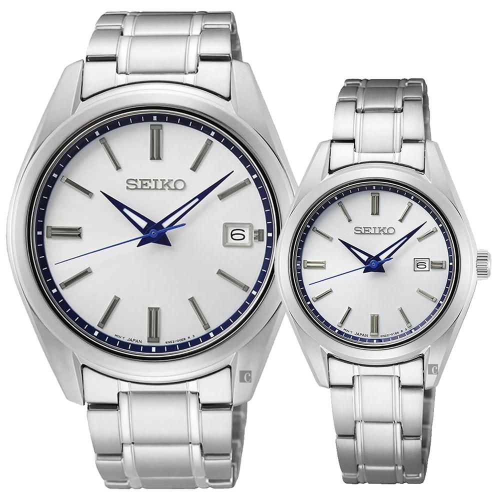 SEIKO 精工 CS 140週年限量 城市簡約情侶手錶 對錶(SUR457P1+SUR463P1)