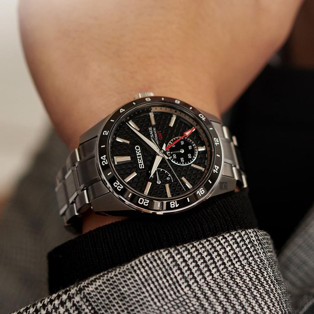 SEIKO 精工 Presage 新銳系列 GMT機械錶-42.2mm(SPB221J1/6R64-00C0D)
