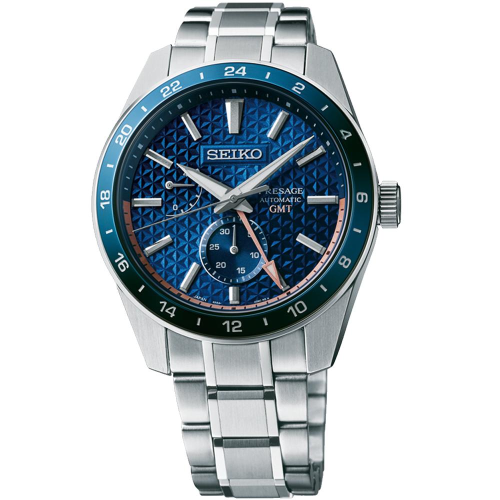 SEIKO 精工 Presage 新銳系列 GMT機械錶-42.2mm(SPB217J1/6R64-00C0B)