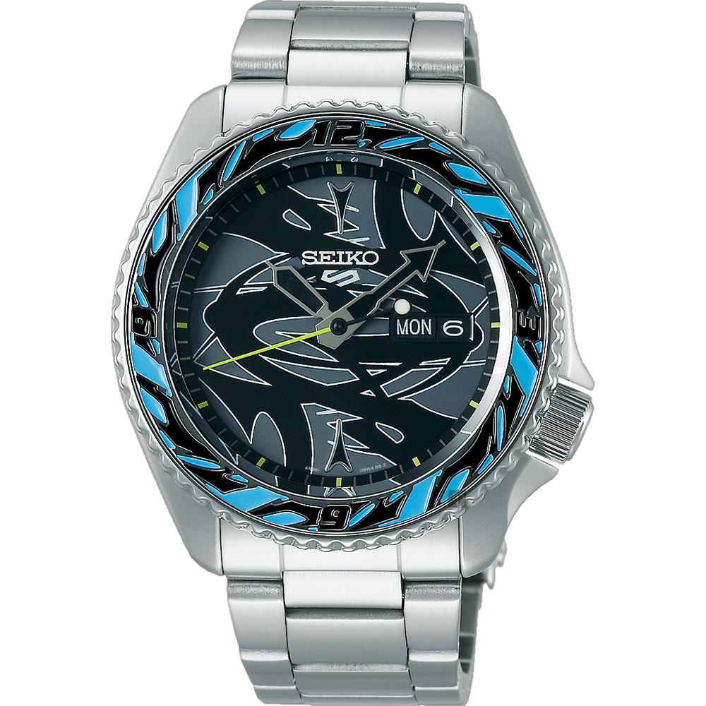 SEIKO 精工 5 Sports x GUCCIMAZE 藝術家聯名限量機械錶(SRPG65K1/4R36-09Y0D)