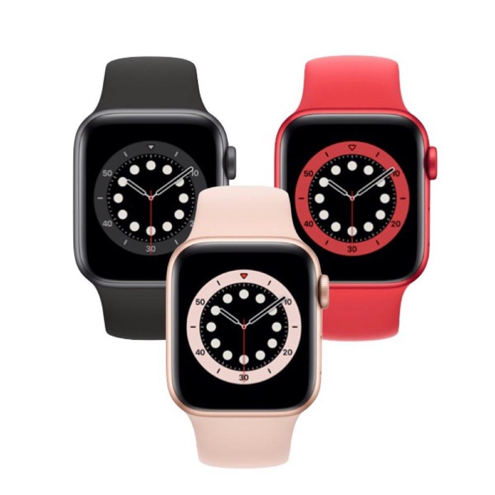 2020 Apple Watch S6 GPS 40mm 鋁金屬錶殼搭配運動錶帶 五色任選  | 贈VAP 18W充電器