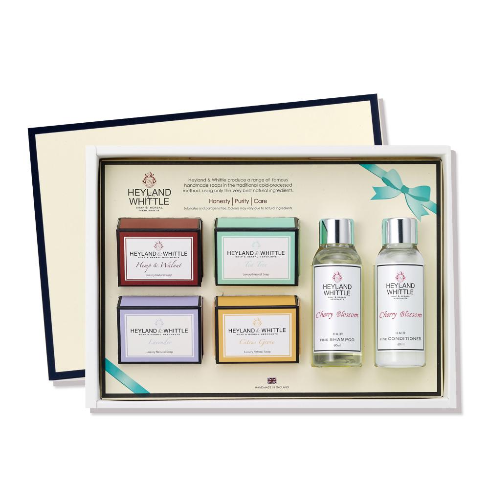 H&W英倫薇朵 典藏香氛沐浴禮盒-櫻花