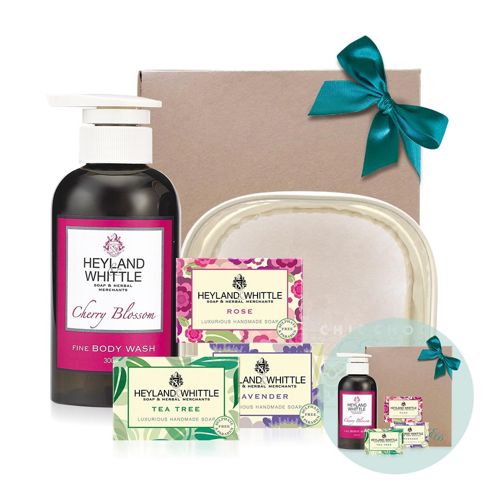 H&W英倫薇朵 櫻花香氛沐浴皂禮盒回饋組(買一送一)