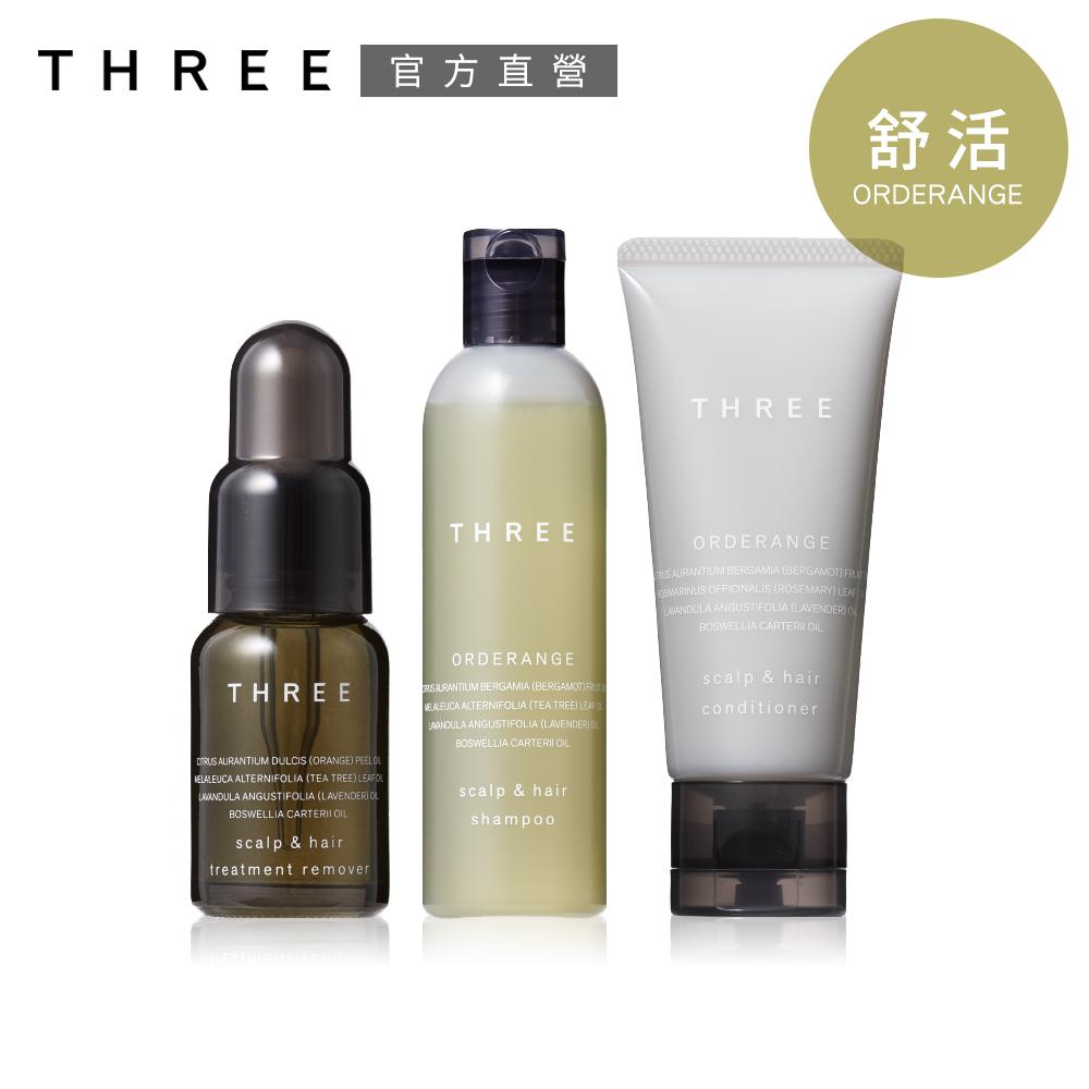 THREE 極致舒活淨化組(晶摩油18mL+洗髮露R50mL+護髮霜R40g)