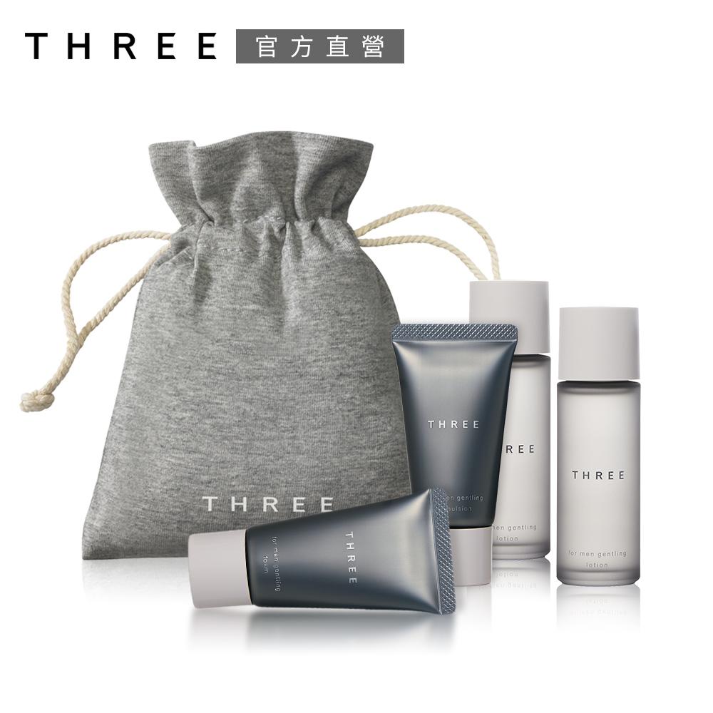 THREE 型男保養4品入手組 (皂霜+水凝露*2+水凝乳)