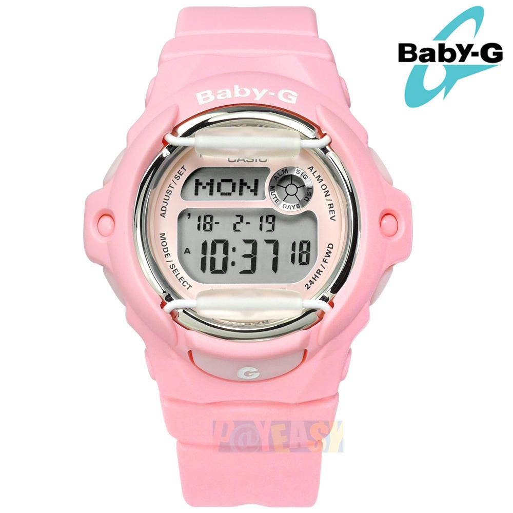 Baby-G CASIO / BG-169R-4C / 卡西歐粉嫩氣息日期倒數電子數位防撞運動防水橡膠手錶 粉色 43mm