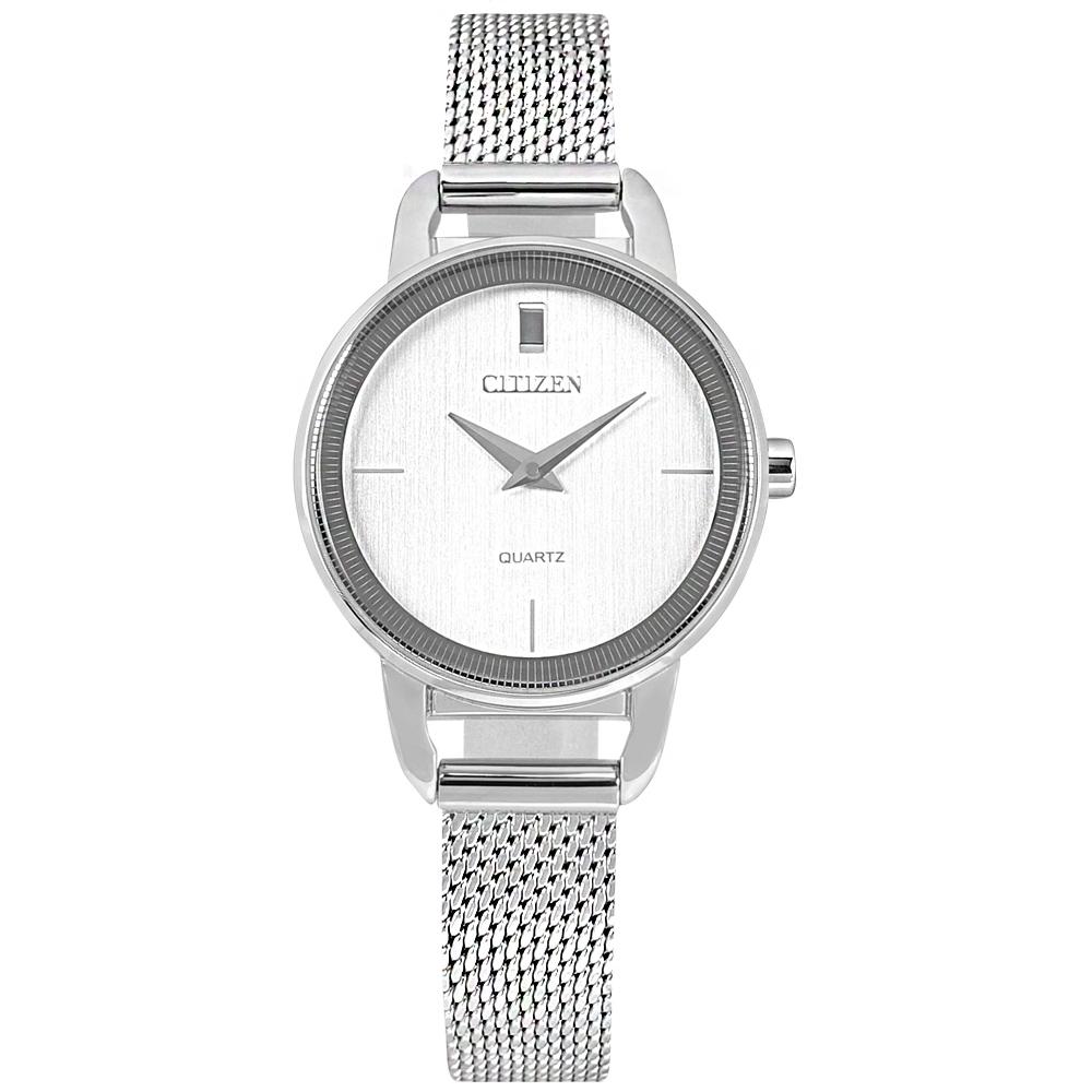 CITIZEN / EZ7000-50A / 簡約時尚 小巧典雅 日本機芯 米蘭編織不鏽鋼手錶 銀色 26mm