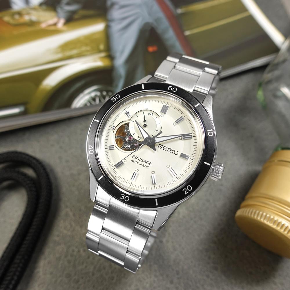SEIKO 精工 / 4R39-00Z0S.SSA423J1 / PRESAGE 鏤空 機械錶 自動上鍊 不鏽鋼手錶 銀白色 41mm