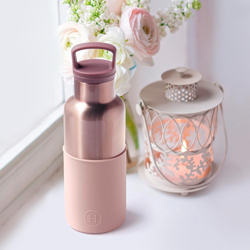美國HYDY時尚真空保溫瓶_拿鐵-蜜粉金瓶(小容量480ml)