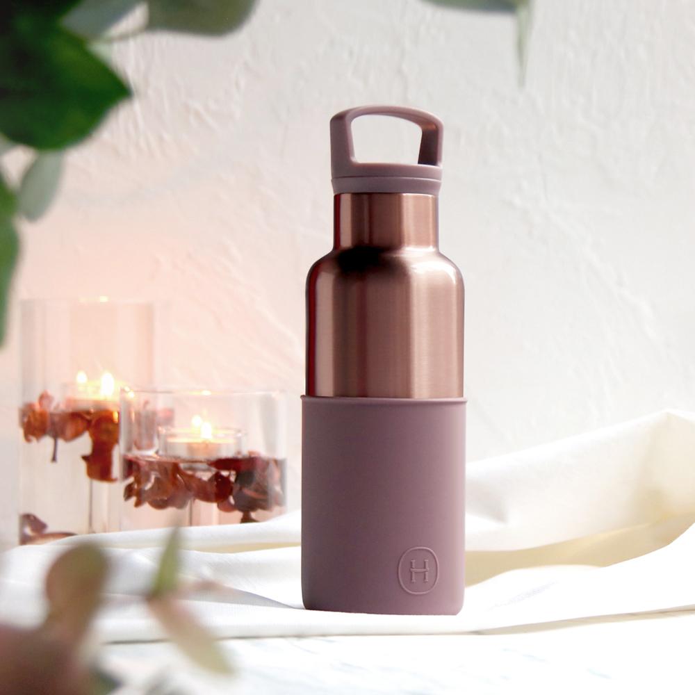 美國HYDY時尚真空保溫瓶_乾燥玫瑰-蜜粉金瓶(小容量480ml)