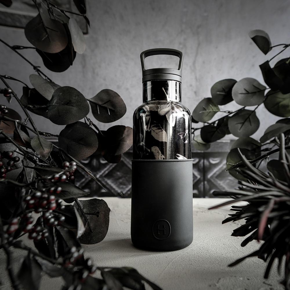 美國HYDY時尚真空保溫瓶_油墨黑-黑花瓶(小容量480ml)