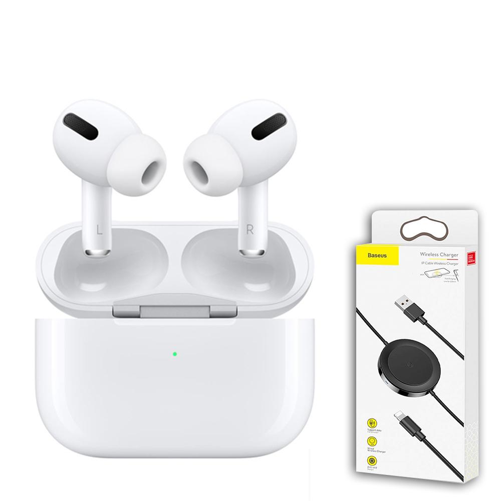 【Apple 蘋果】AirPods Pro (MWP22TA/A) + 倍思數據線無線充電器