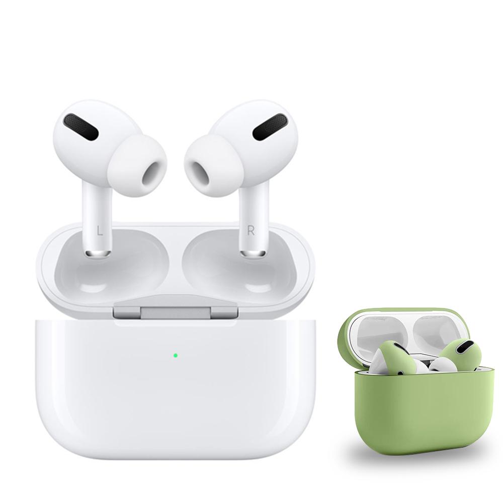 【Apple 蘋果】AirPods Pro (MWP22TA/A) + 耳機保護套組