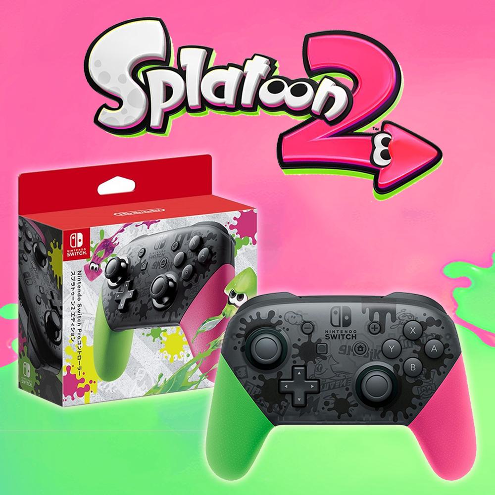 【現貨供應】Nintendo Switch Pro控制器 漆彈大作戰特別款-綠粉 (台灣公司貨)