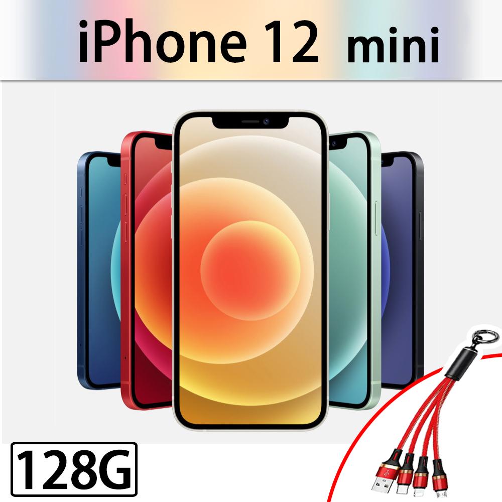 【Apple 蘋果】2020 iPhone 12 mini 128G 5.4吋 智慧型手機 (周邊全配組)