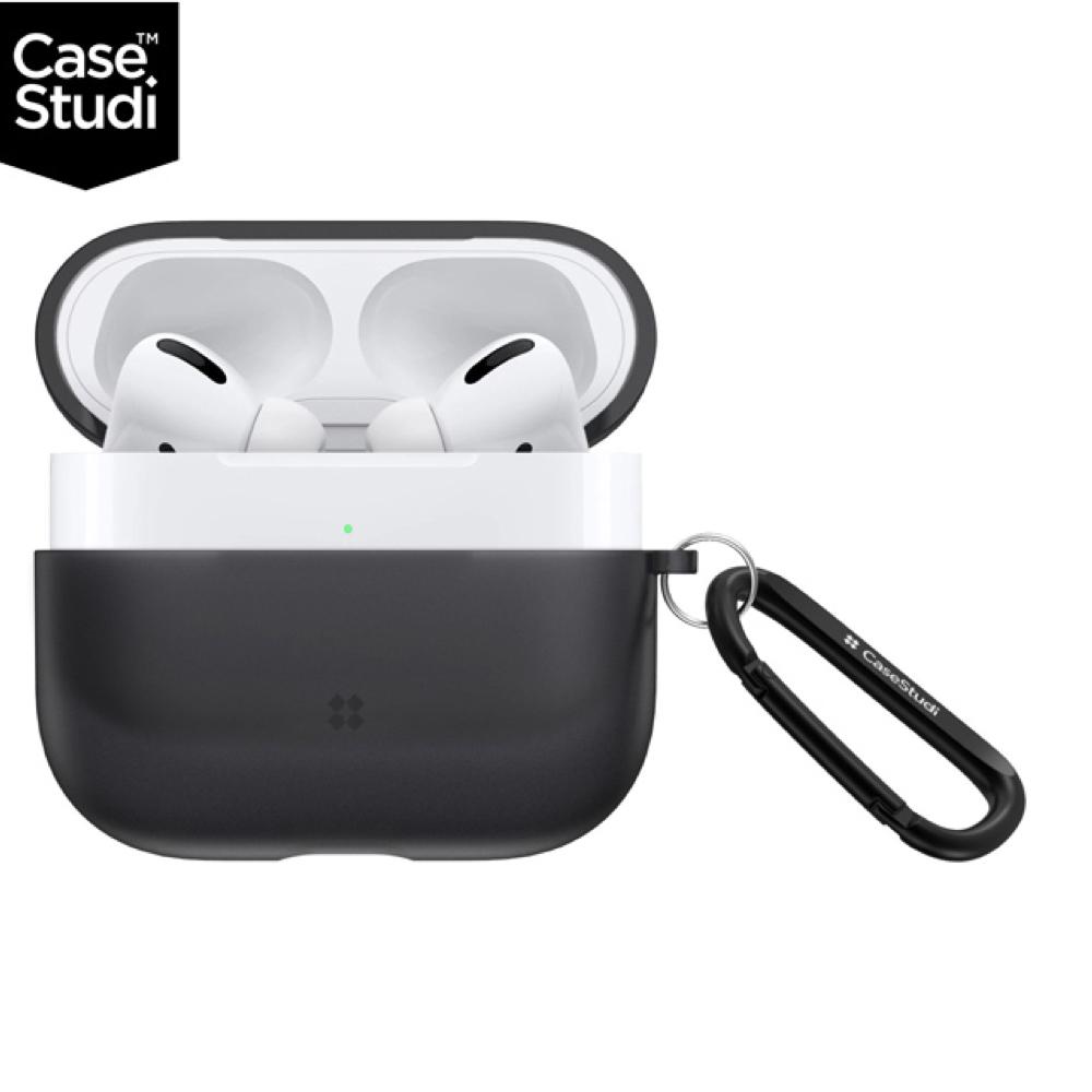 CaseStudi Explorer AirPods Pro 充電盒保護殼(含扣環) 黑色