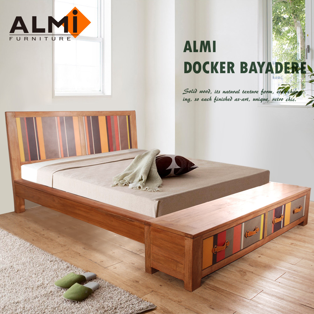 【ALMI】DOCKER BAYADERE-BED 154x192 雙抽雙人床