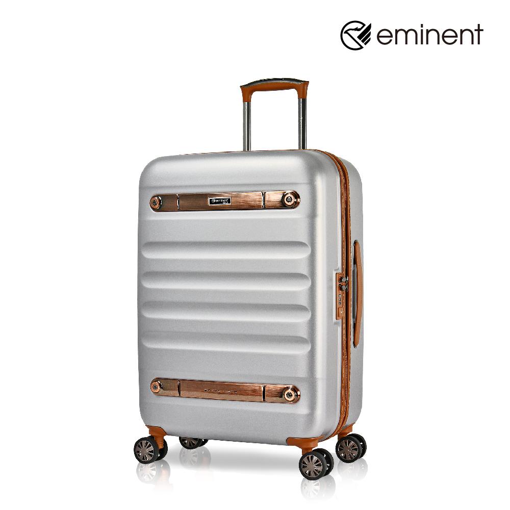 eminent 【時光旅者】防爆拉鍊飛機輪全PC行李箱 24吋<亮鋁色>KG38