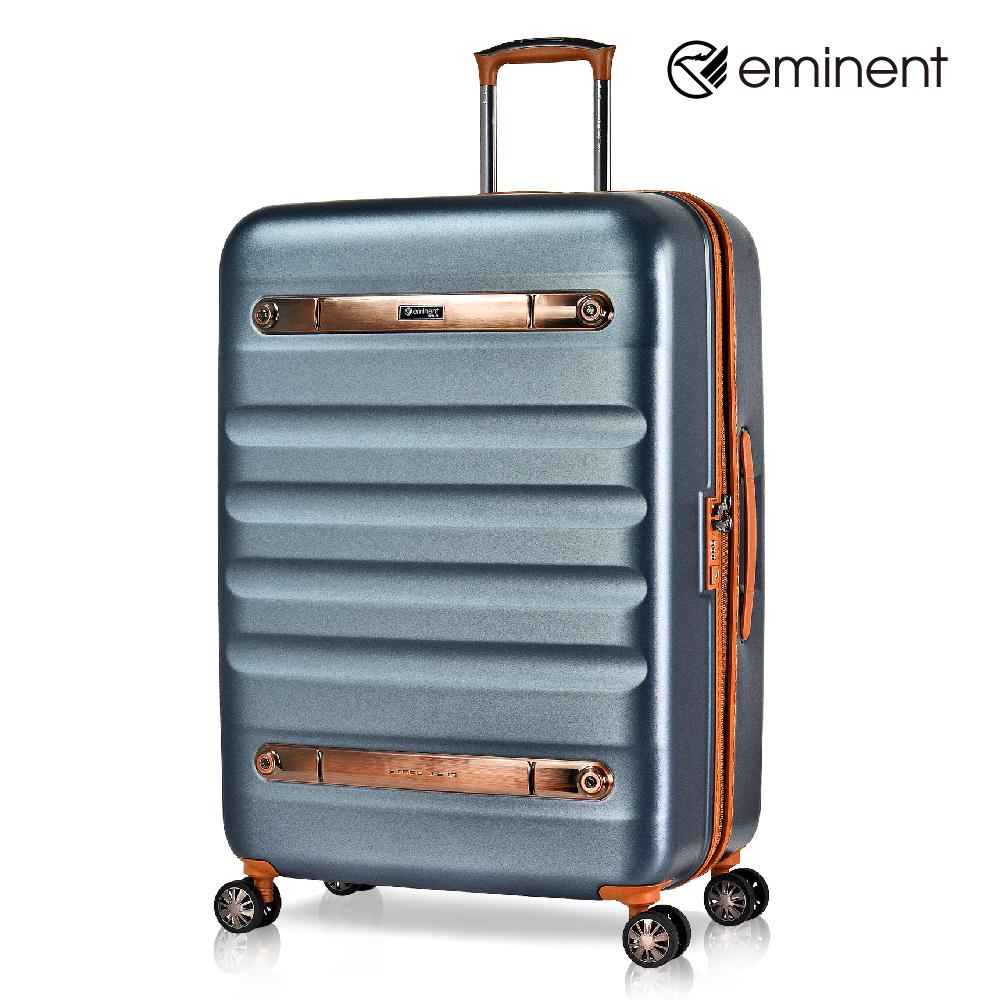 eminent 【時光旅者】防爆拉鍊飛機輪全PC行李箱 28吋<新黑灰>KG38